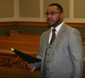 Broderick Hayes in Court