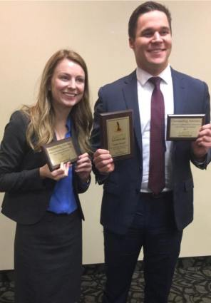 Spring 2017 Joplin, Luke and Madalyn with team 2nd place, and matching attorney awards
