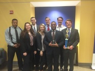 Black Team, 1111 at AMTA Regional, 2016 with team trophy and Broderick Hayes attorney award