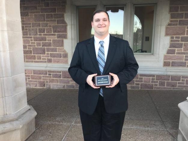 2018 WashU Award, Zachary Sherwood