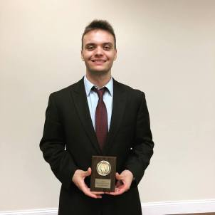 Nicholas Hutsell, Attorney Award at NWMO, Fall 2018