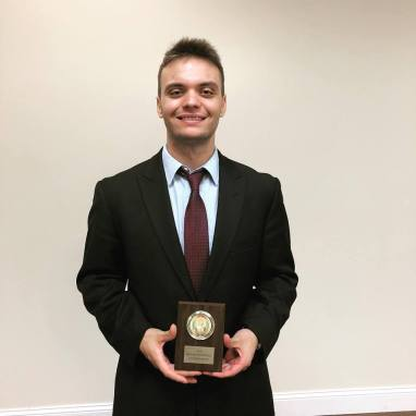 Nicholas Hutsell, Attorney Award at NWMO, Fall 2018