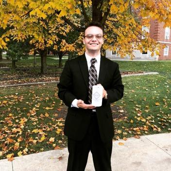 Nicholas Hutsell OA award, Calkins 2019 fall